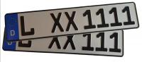 Eurokennzeichen (Größenauswahl)