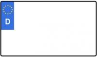 verkleinertes zweizeiliges Kennzeichen (Größenauswahl)