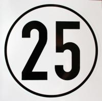 Geschwindigkeits-Schild Aluminium 25 km/h