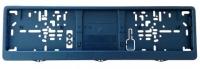 Kennzeichenhalter schwarz 460x110