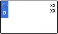 verkleinertes zweizeilliges Kennzeichen (Größenauswahl)