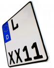 kleines Motorradkennzeichen (Größenauswahl)