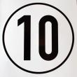 Geschwindigkeits-Schild Aluminium 10 km/h