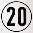 Geschwindigkeits-Schild Aluminium 20 km/h
